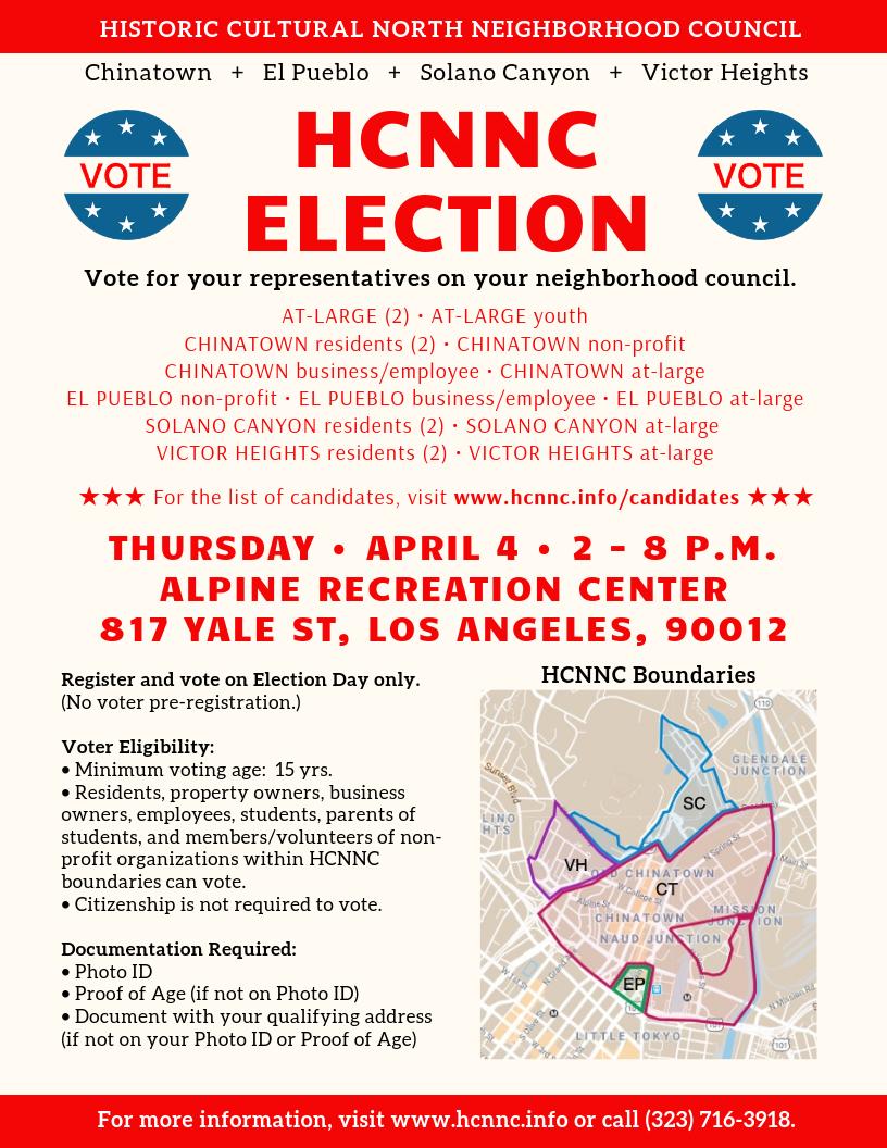 HCNNC Election Flyer - English