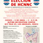 HCNNC Election Flyer - Spanish
